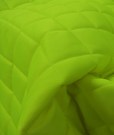Quilted 4oz Waterproof Fabric Box Design - Fluo green