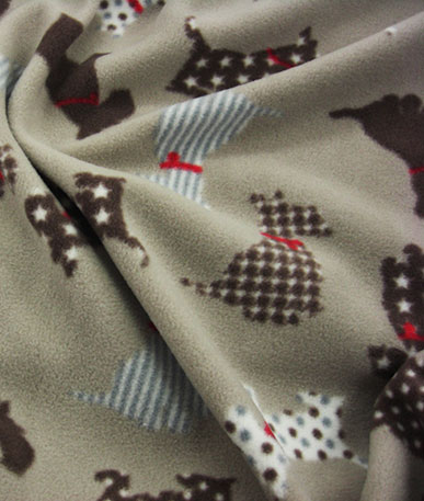 Scottie Dog Print Fleece - Dogs