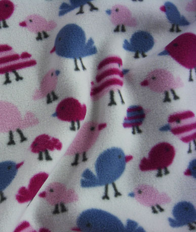 Printed Fun Fleece - Birds
