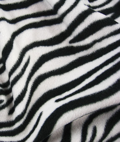 Printed Fun Fleece - Zebra
