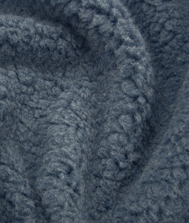 Sherpa Fleece Fabric - Denim