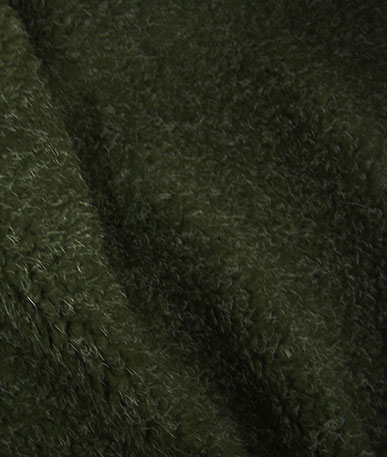 Sherpa Fleece Fabric - Olive Fleck