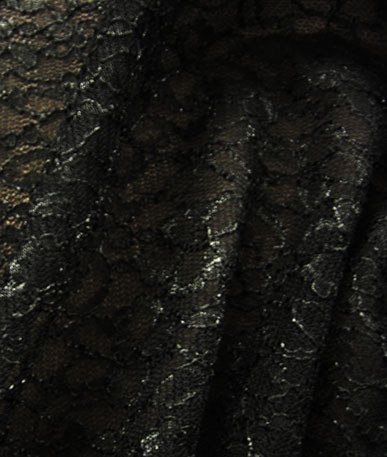 Dark Patterned Lace - Black Lace