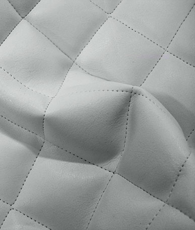 Quilted Clothing Vinyl - White