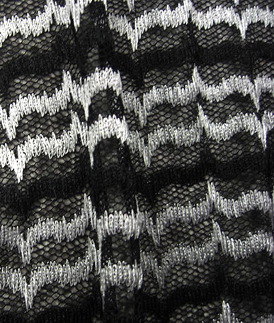 Zig Zag Lace - Black and White