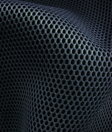 Spacer Fabric - Grey/Black Ground