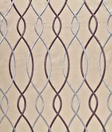 Azita Curtain fabric - Violet