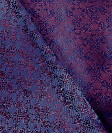 Quality Italian Lining Fabric - Navy plum