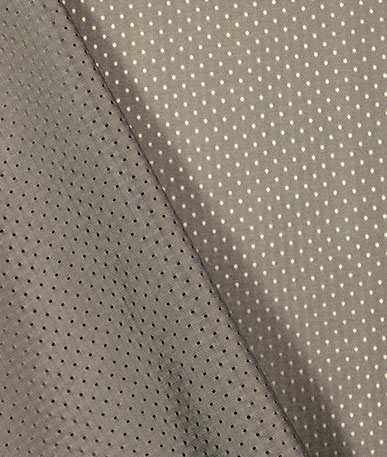 Quality Italian Lining Fabric - Pewter Dotted