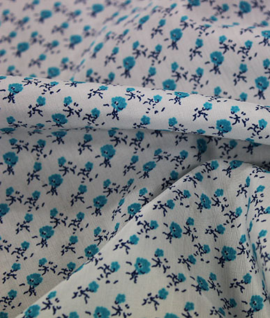 Blue Rose Cotton Fabric - Blue Rose