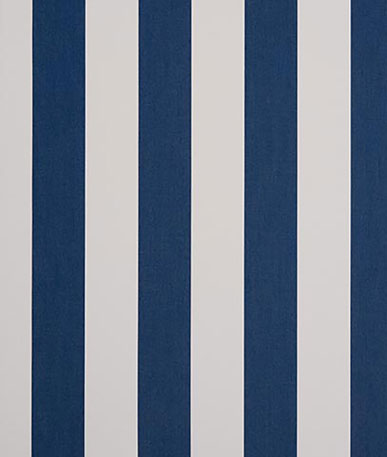 Awning Fabric Block Stripe - Marine (8556)