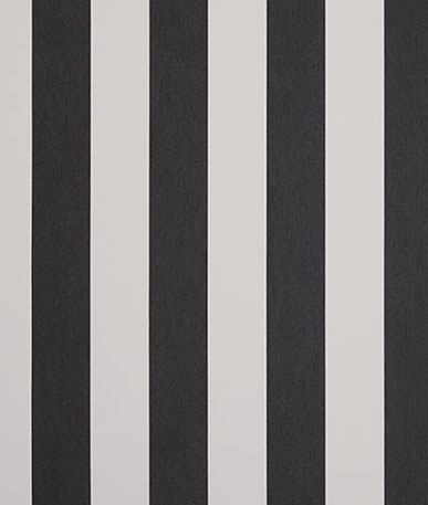 Awning Fabric Block Stripe - Noir (8919)