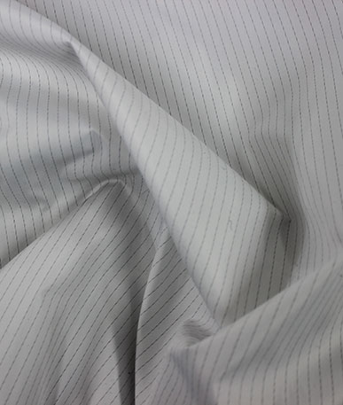 Clearance Pinstripe Lining - White with Grey Pinstripe