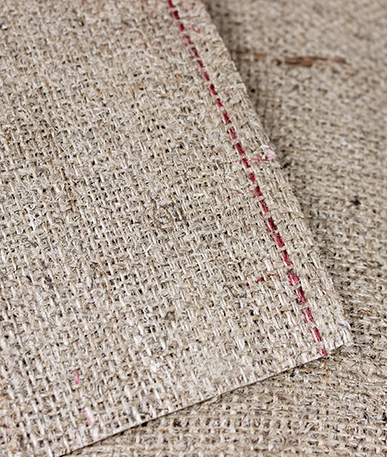 Stiff Buckram Hessian -Single Sided - Natural