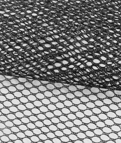 Clearance Polyester Netting Lightweight (D) - Black