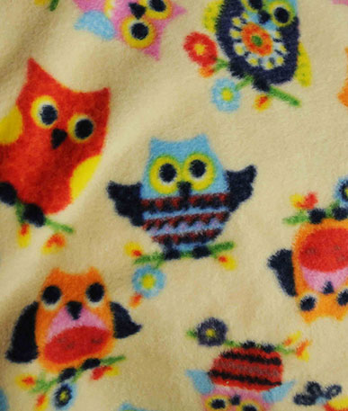Multi Coloured Owl Fleece - Multicolour