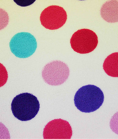 Spotty Coral Fleece  - Multi colour
