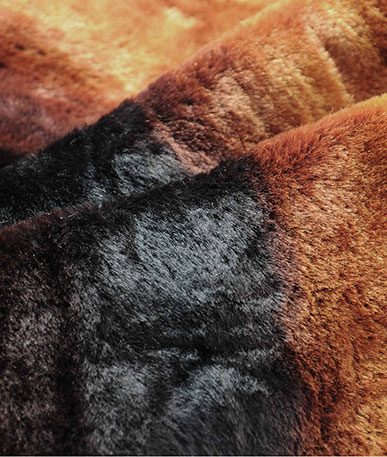 Brown Ombre Faux Fur - Brown Ombre