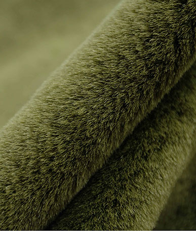 Coloured Soft Thick Pile Fur (D) - Olive
