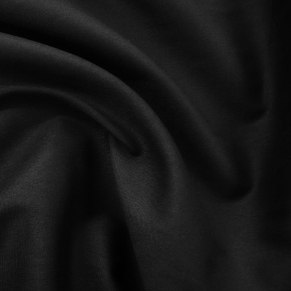 Black cotton lycra poplin fabric uk for Fabric outlet near me