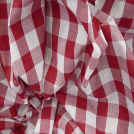 Red Check Fabric For Curtains Home The Honoroak