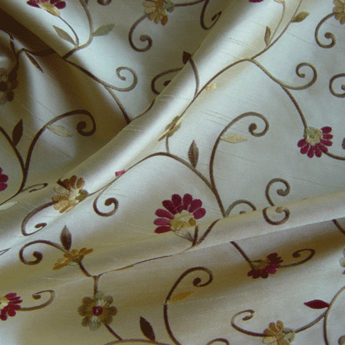 Captivate Floral Curtain Material