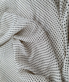 Printed Cupra Silk Fabric - Cream