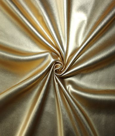 Leather Look Matt PU Fabric - Gold