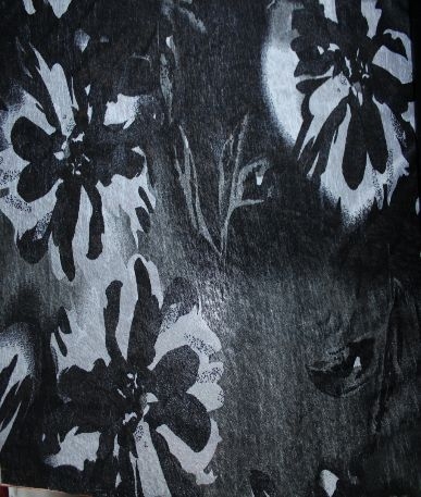 Viscose Burnout Fabric - Black/White