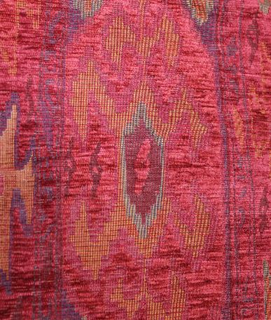 Scarlet Aztec Upholstery Fabric - Scarlet