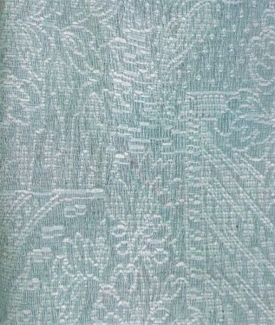 Woven Floral Upholstery Fabric - Blue