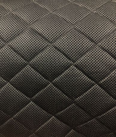 Quilted Spacer Fabric - Box - Black