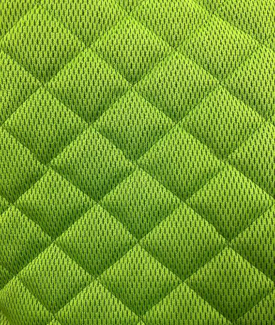 Quilted Tri Sports Mesh  - Lime Green