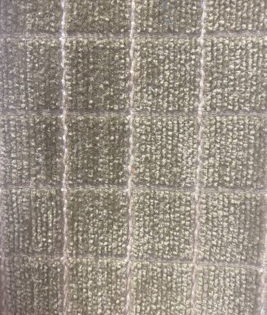 Grid Woven Upholstery Fabric - Light Brown