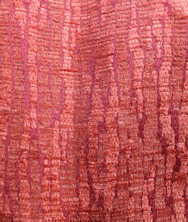 Crackle Effect Upholstery Fabric  - Red / Orange