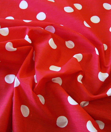 Spots Polka Dots - Dark Ground - Red
