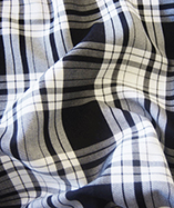 Tartan Fabric - Black & White (Col 1)