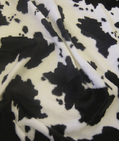 Pony Skin Fur Fabric - Black Cow