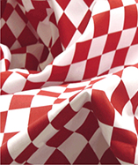 Chequered Flag -1 inch squares - Red