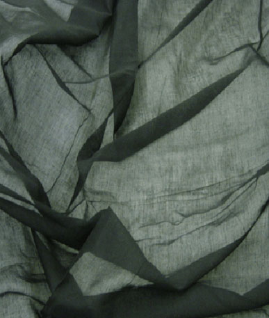 Cotton Mull - Sheer Cotton Fabric - Black