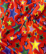 Multi coloured satin stars - Red