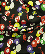 Casino Printed Cotton fabrics - Billiards Balls