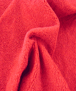 Sherpa Fleece Fabric - Red