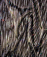 Cyber Streak Holographic Fabric - Black and Silver