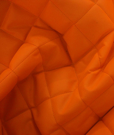 Quilted 4oz Waterproof Fabric Box Design - Fluo Orange