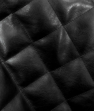Quilted Clothing Vinyl - Black