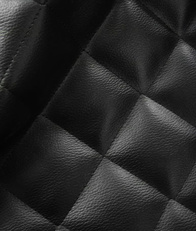 Soft Feel Quilted Upholstery Fabric FR - Black