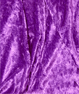 Crushed Velvet Plain Dyed - Purple