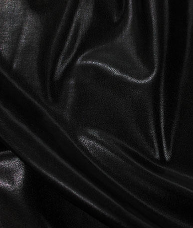 Wetlook Cosplay Stretch Leatherette - Wet Black