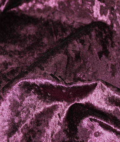 Bling Crushed  Velvet Upholstery Fire Retardant